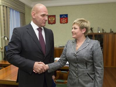 Марина Ковтун провела рабочую встречу с Александром Карелиным