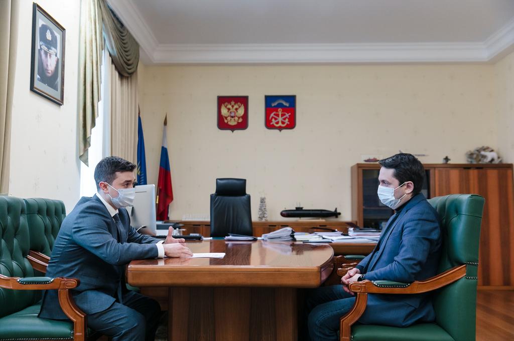Губернатор встретился с новым управляющим ВТБ в Мурманской области